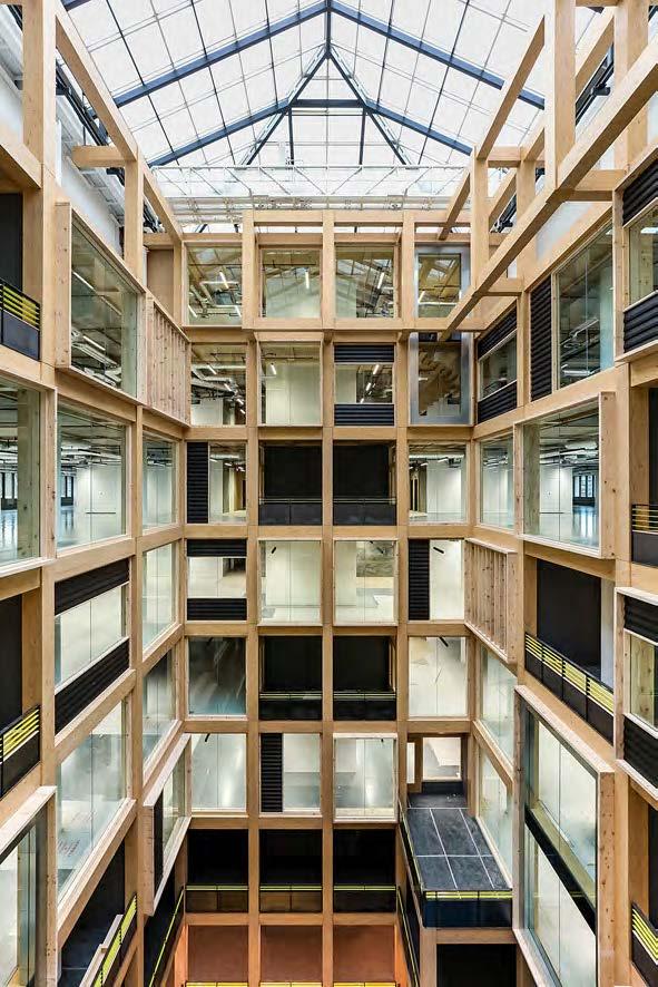 Installation of Atrium Façade for Anchorage House
